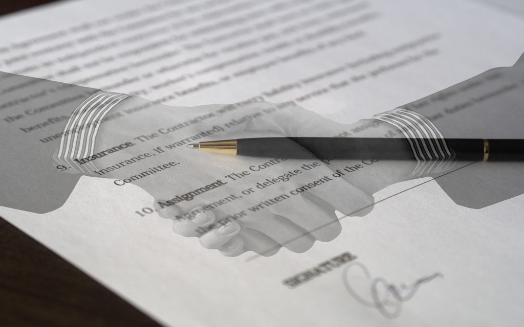 Organic and inorganic growth through assets and stock acquisitions like the contractual agreement pictured happen in a company's growth journey.